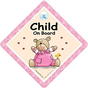 Pink B/är Steppdecke Aufkleber Baby Auto Schild Baby an Bord Baby Girl in Sign Car Baby Auto Schild Baby on Board Zeichen Child On Board Auto Zeichen Bumper Aufkleber Baby