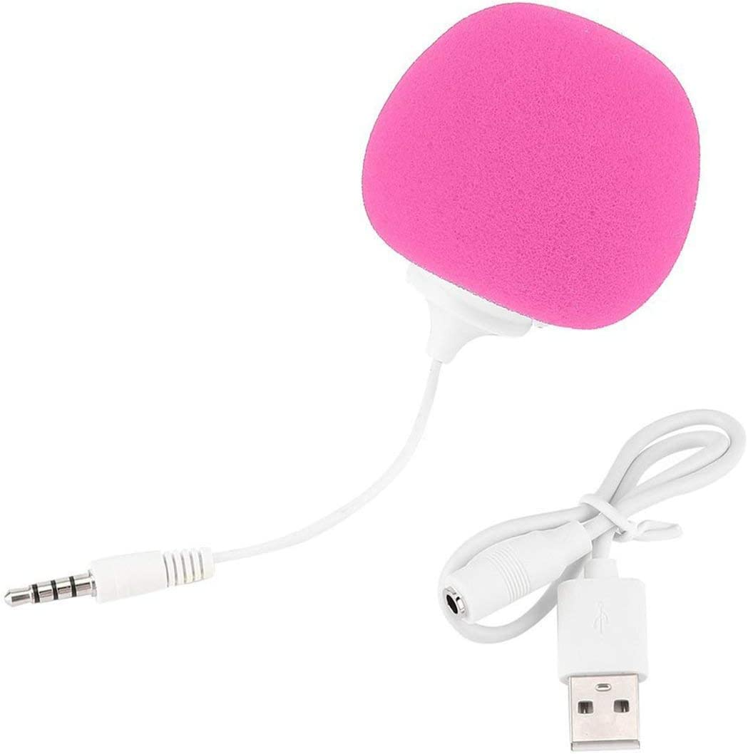ShenyKan Unique Portable PC Music Sponge Ball Style 3.5mm Mini Speaker Player Audio Dock with USB Cable Plug /& Play DC5V 2W