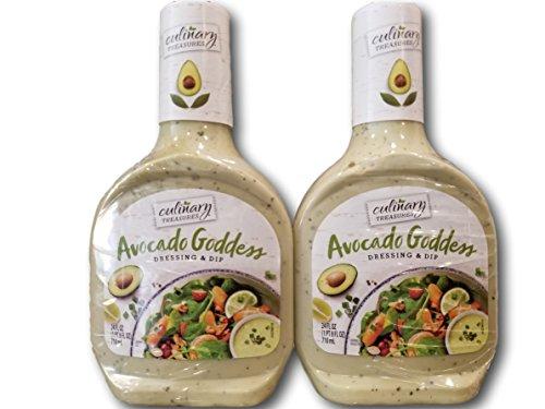 Avocado Dressing - Culinary Treasures Avocado Goddess Salad Dressing & Dip (2 Pack- 2x24 fl oz)