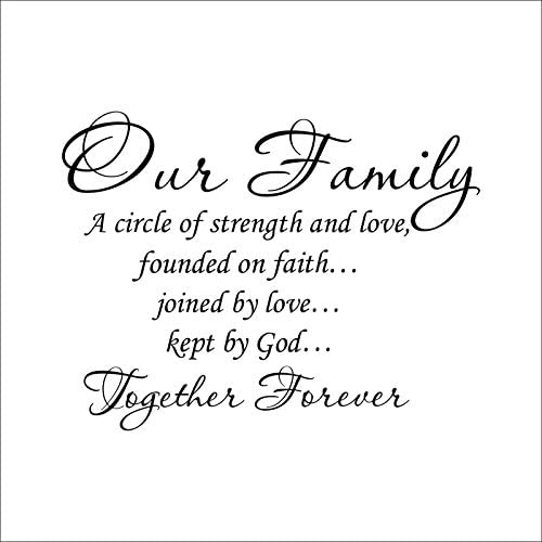 FAMILY WALL DECAL OUR FAMILY A CIRCLE OF STRENGTH AND LOVE WALL QUOTE