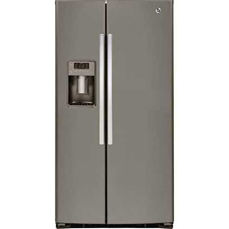 GE GSE25HMHES 25.4 Cu. Ft. Slate Side By Side Refrigerator   Energy