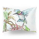 Society6 Honeysuckle Hummingbird Pillow Sham Standard (20'' x 26'') Set of 2