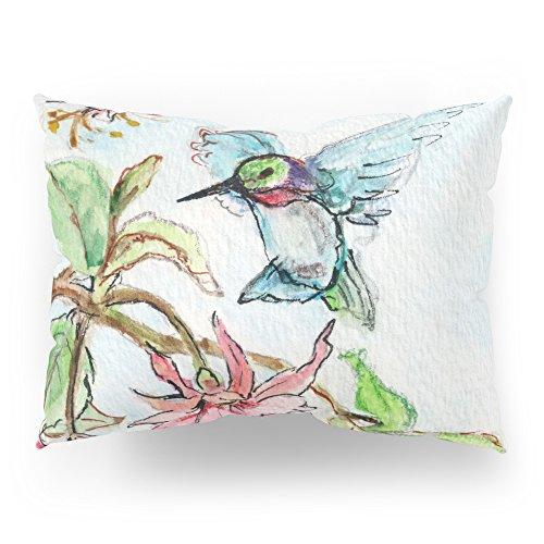 Society6 Honeysuckle Hummingbird Pillow Sham Standard (20'' x 26'') Set of 2 by Society6