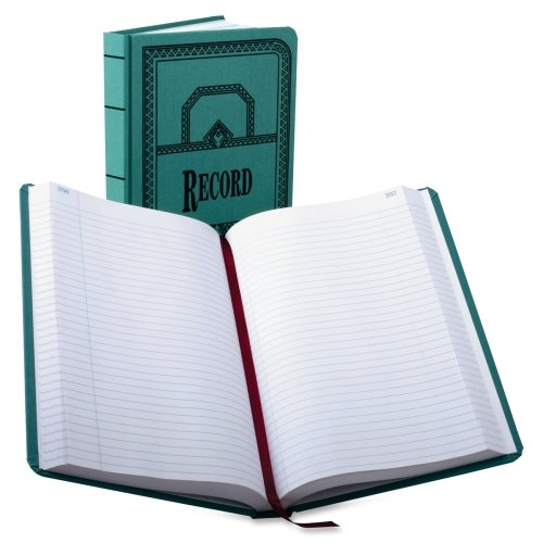(Esselte 66 Series Canvas Record Books - 500 Sheet(s) - Thread Sewn - 12.12quot; x 7.62quot; Sheet Size - White - 1Each)