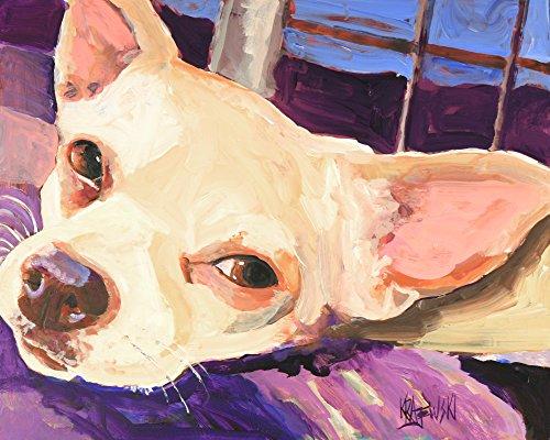Chihuahua Dog Fine Art Print on 100% Cotton Watercolor ()