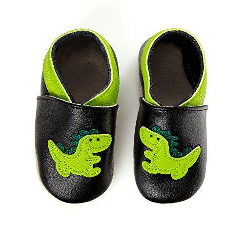 Smilebaby Primi Dinosauro Vari Nero Passi Scarpette Premium In Pelle Motivi q1Ox4pqw
