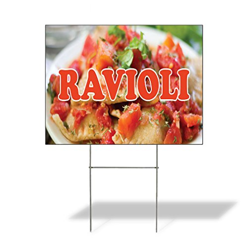 Ravioli Outdoor Lawn Decoration Corrugated Plastic Yard Sign - 18inx24in, Free ()