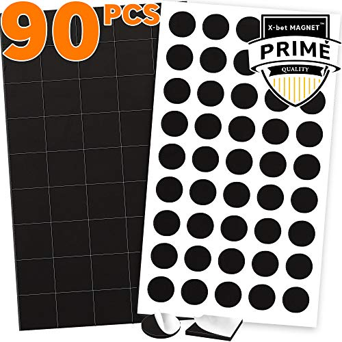 (90 Magnetic Squares and Magnetic Dots (0.8