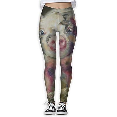 EWDVqqq Girl Yoga Pant Watercolor Pig.JPEG High Waist Fitness Workout Leggings Pants