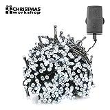 76120 Christmas Workshop Benross 400 LED Chaser String Lights Bright White, Multi Function Flashing Fairy Light, 8 Modes, Indoor & Outdoor - Garden Party Wedding