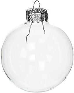 darice 10 piece heavy duty glass balls 60mm clear - Glass Christmas Balls