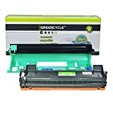 GREENCYCLE Black TN1000 TN-1000 Toner Cartridge DR1000 Drum Unit Combo Compatible For Brother HL-1110 HL-1110R HL-1111 Printer(1PK Toner,1PK Drum)