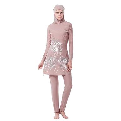 477dbf39402 ... Muslim 2-Pieces Full Cover Sun Protection Hijab Swimwear Islamic Arab  Women Summer Attached Cap Burkini Swimsuit Middle East Malaysia Modest  Beachwear ...