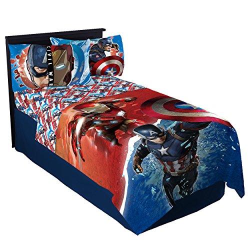 Marvel Captain America Civil War Warriors Twin Sheet Set (Captain America Bedding Twin compare prices)