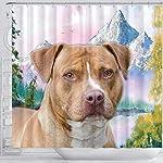 Breedink American Staffordshire Terrier Print Shower Curtains 7