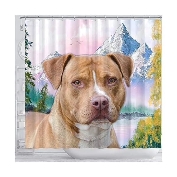 Breedink American Staffordshire Terrier Print Shower Curtains 3