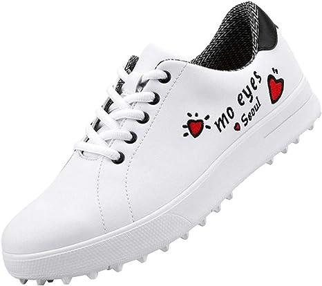 GRASSAIR PGM Zapatos de Golf para Mujer, Zapatos Deportivos Impermeables y Transpirables, Zapatillas Antideslizantes Resistentes al Desgaste Estampadas para el Golf: Amazon.es: Deportes y aire libre