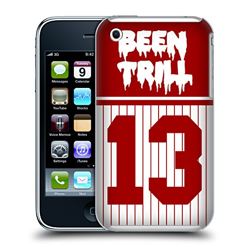 Official Been Trill Red Stripe Jersey Hard Back Case for Apple iPhone 3G / 3GS