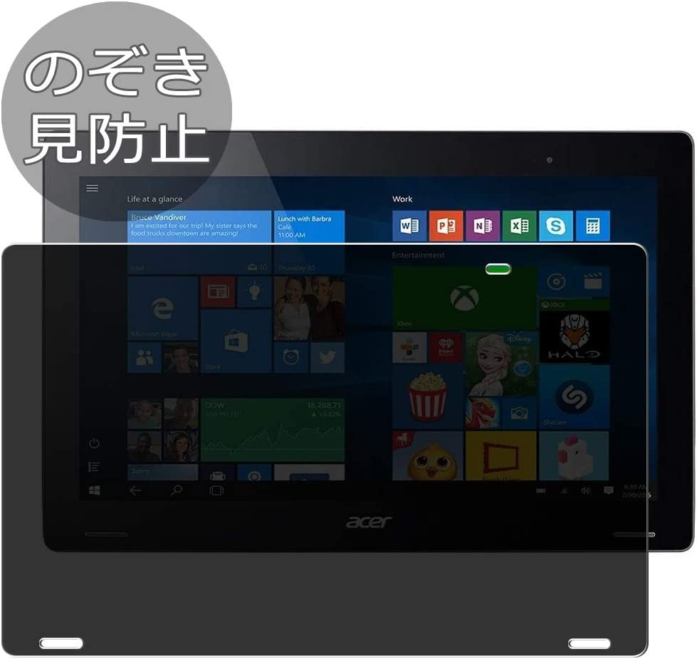 """Synvy Privacy Screen Protector Film for Acer Aspire Switch 12 SW7-272 / SW7-272P 12.5"""" Anti Spy Protective Protectors [Not Tempered Glass]"""