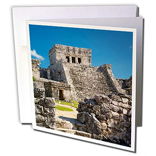 - 3dRose Ruins of The Mayan Temple Grounds at Tulum, Yucatan, Mexico - Greeting Cards, 6