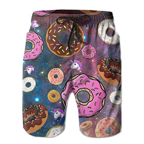 95f40863e0 Unicorn And Donut Men's Swim Trunks Quick Dry Board Beach Shorts Home Wear  by Jasonasd