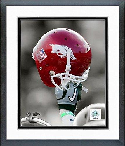 Arkansas Razorbacks Art Glass (Arkansas Razorbacks Football Helmet Spotlight Photo (Size: 12.5