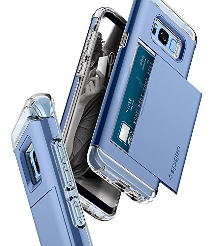 Spigen Crystal Wallet Galaxy S8 Case with Slim Dual Layer Wallet Design and Card Slot Holder for Galaxy S8 (2017) - Coral Blue by Spigen (Image #3)