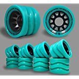 Shark Wheel 58mm Derby Quad Skate Wheels (99a Indoor-8 wheels) in Turquoise