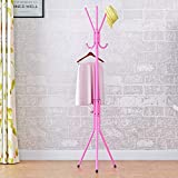 ANOTHERROOM Kids Coat Rack Standing Coat Tree Metal Hooks 015y(pink)