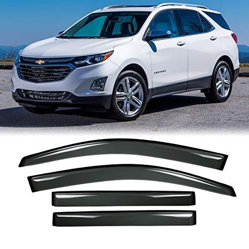 (JJ 94634 For 2018-2019 Chevrolet Equinox Sun Rain Guard Vent Shade Window Visors Driver+Passenger Side)