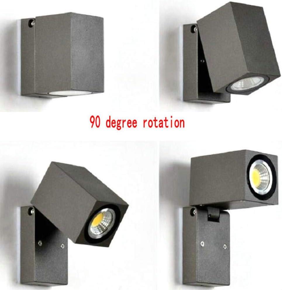 Außenwandleuchte 7W GU10 IP68 Wasserdichte LED-Außenbeleuchtung Außenveranda LED-Wandleuchte Energiesparende Garten-Außenbeleuchtung Cold White Dc12v Dimmable