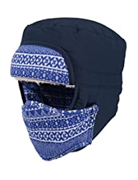 Swaroser Unisex Winter Thick Super Warm Waterproof Hat With Removeable Mask Bomber