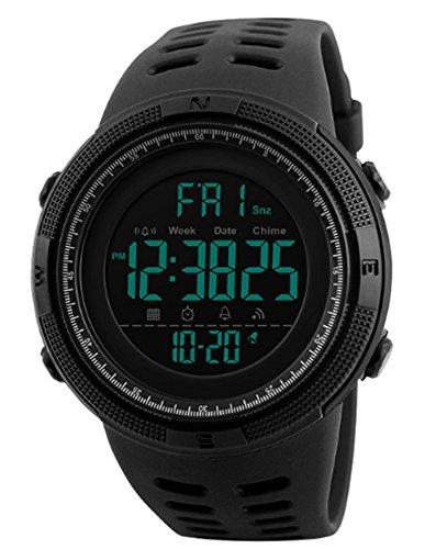 RUIWATCHWORLD Men Fashion Sport Casual Military Digital Outdoor Wrist Watch