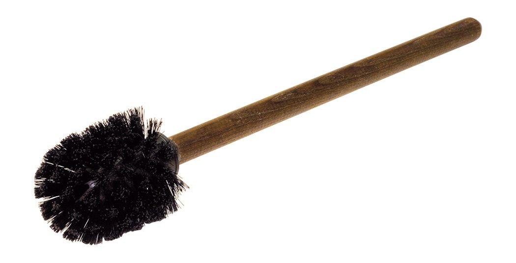 cepillo Casa Redecker–Escobilla de baño con redondo térmica Mango de madera y cerdas negras de nailon Bürstenhaus Redecker