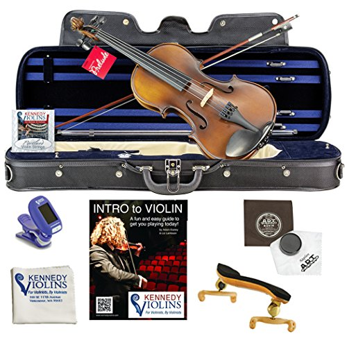 Ricard Bunnel G1 Student Violin Outfit 3/4 Size with Shoulder Rest, Tuner, Rosin and Extra Strings from Kennedy Violins