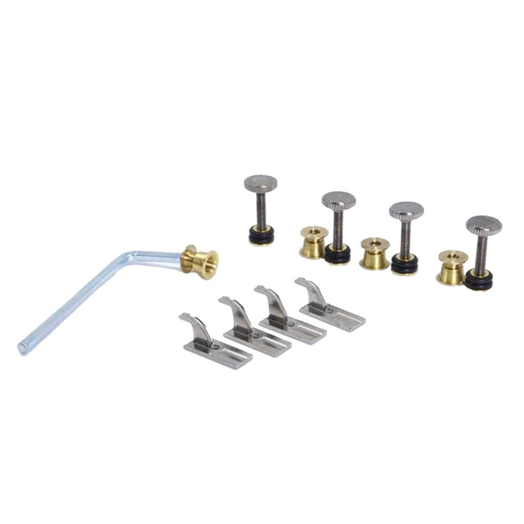 CUTICATE Set of 4 Cello Fine Tuner Titanium String Adjuster, Build-in Mini Tuners Cello Accessories Parts