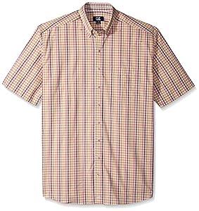 Cutter & Buck Men's Big and Tall Short-Sleeve Mallow Check Shirt, Multi, 3X/Big