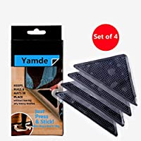 Yamde 4 Pack Silica gel Carpet anti slip mat