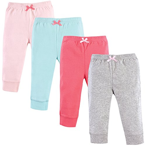 Luvable Friends Baby Tapered Ankle Pants, Coral Aqua, 12-18 Months (18M)]()