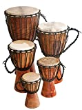 Djembe Beginner Plain, 16'' tall, 7.5-8.5'' head