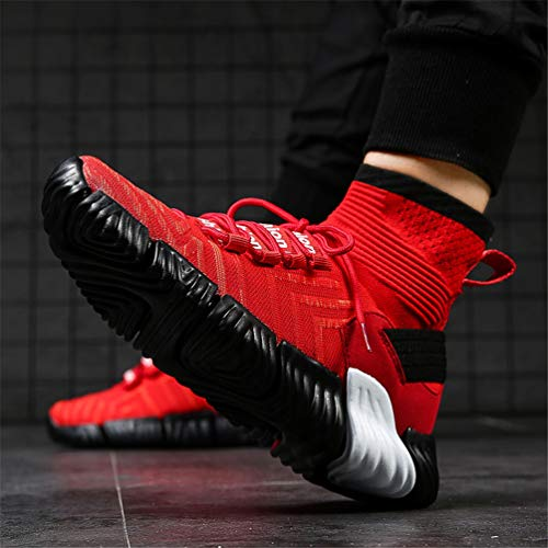 Basket Sport Traspirante Sportive Alto Outdoor Top Rosso Uomo Maschile Running Da Scarpe Sneakers HvB6q6