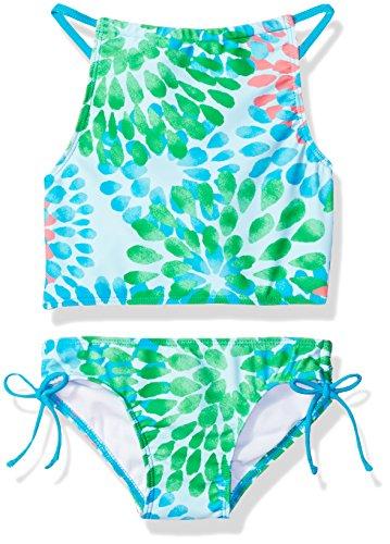 - Kanu Surf Big Girls' Daisy Beach Sport Halter Tankini 2-Piece Swimsuit, Blue, 14