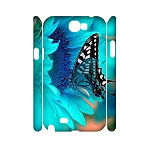 Butterfly Personalized 3D Cover Case for Samsung Galaxy Note 2 N7100,customized phone case ygtg524039