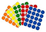 Removable Color-Code Dot Label Kit | 5 Assorted Standard Colors | 1200/Pack (1 inch)