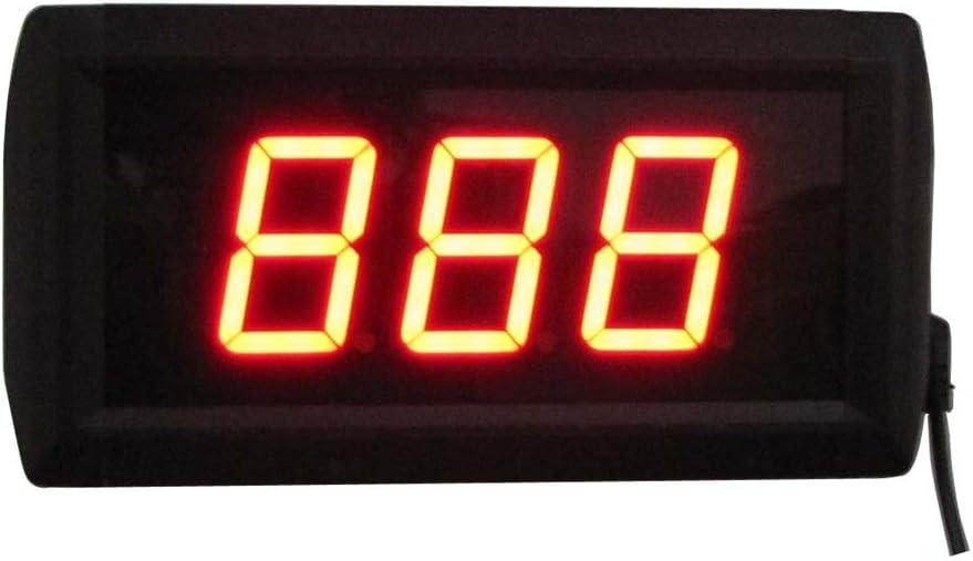 トレーニングタイマーデジタルスポーツタイマー 1.8インチLEDデジタル屋内ジムカウントダウンタイマー壁時計リモートコントロールスポーツタイミング時計 (色 : ブラック, サイズ : 10X19X4CM) ブラック 10X19X4CM