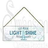 Iron Wall Hangings With Rope Let Your Light Shine Matthew 5:16 Bible Verse