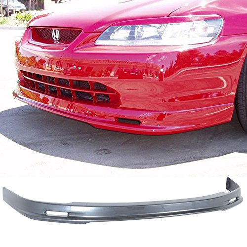Front Bumper Lip Fits 1998-2000 HONDA ACCORD 2 DOOR COUPE | Black PP Front Lip Spoiler Splitter Air Dam Chin Diffuser Add On by IKON MOTORSPORTS | 1999