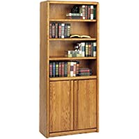 Martin Furniture Contemporary Library Bookcase with Lower Doors, Fully Assembled