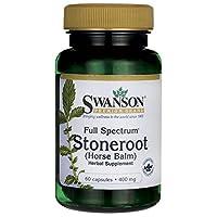 Swanson Full Spectrum Stoneroot 400 Milligrams 60 Capsules