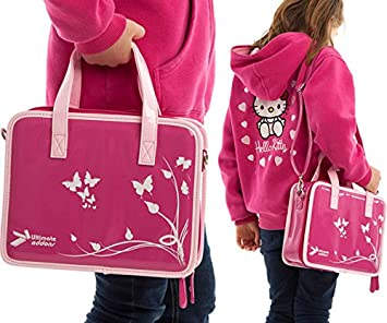 Ultimateaddons Girls Travel Vinyl PU Handbag Storage Case Leapfrog LeapPad  Ultra   Ultra XDi   Platinum c56073d1213ab